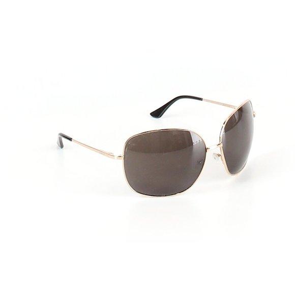 Beryll  Kelly Gold Oversize Aviator Sunglasses